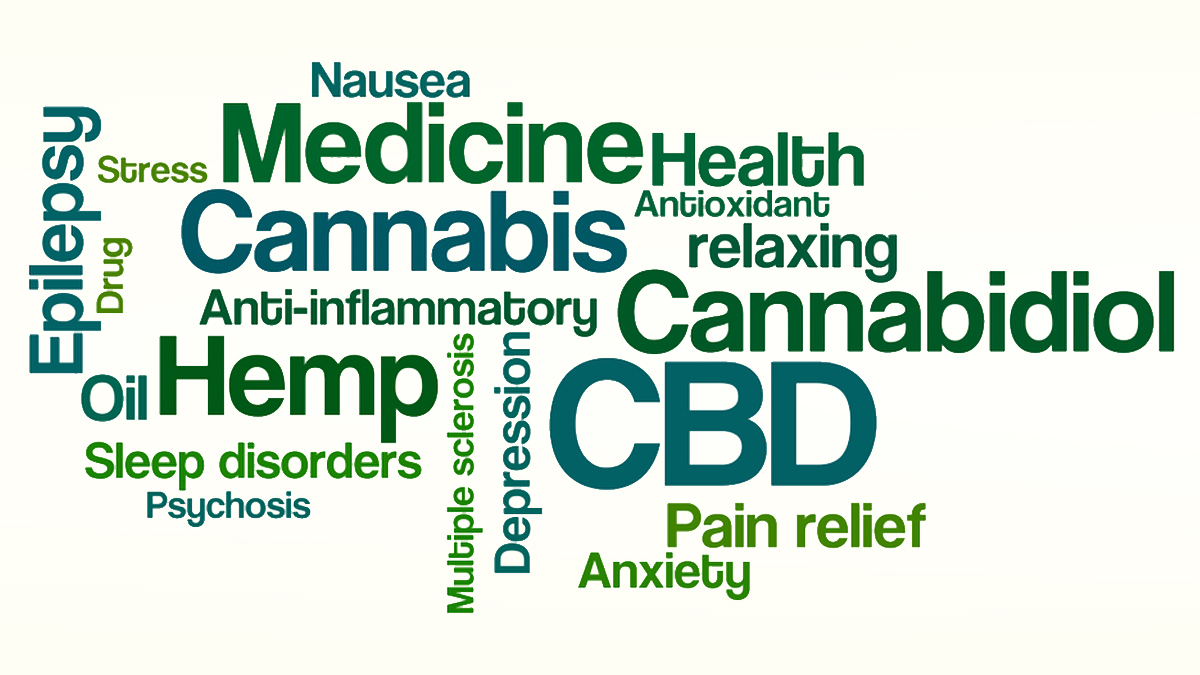 Word Cloud on a white background - CBD - Illustration